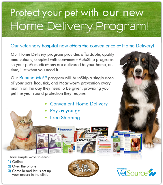 Turkey Creek Animal Hospital Pet Meds Home Delivery Program